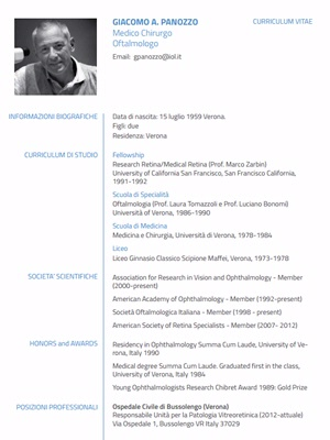 Dott. Giacomo Panozzo - Oculista Verona
